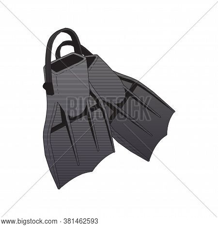 Vector Design Of Flippers And Sea Sign. Web Element Of Flippers And Flipper Stock Symbol For Web.