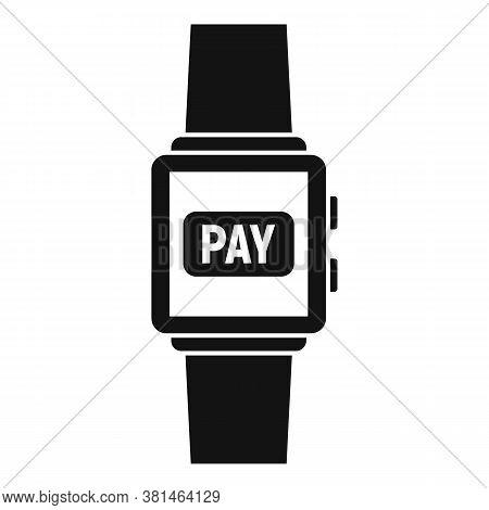 Smartwatch Digital Wallet Icon. Simple Illustration Of Smartwatch Digital Wallet Vector Icon For Web