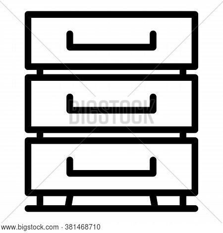 Archive Cabinet Icon. Outline Archive Cabinet Vector Icon For Web Design Isolated On White Backgroun