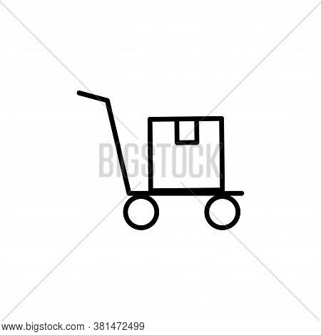 Delivery, Package, Trolly Icon Outline Style For Your Web Design