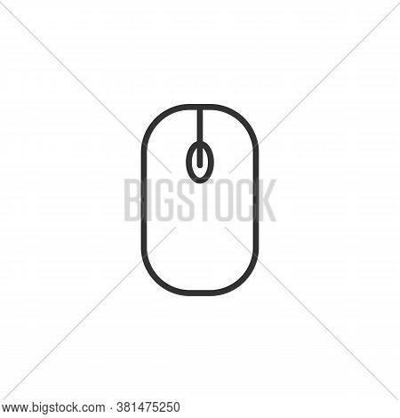Computer, Computer Mouse Hardware. Mouse Icon With Outlinestyle For Your Web Design, Logo, Ui. Illus