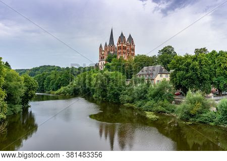 Limburg, Hessen / Germany - 1 August 2020: A View Of The Cathedral In Limburg On The Lahn River