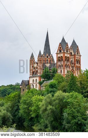 Limburg, Hessen / Germany - 1 August 2020: A View Of The Cathedral In Limburg On The Lahn