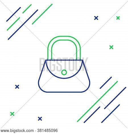 Line Handbag Icon Isolated On White Background. Female Handbag Sign. Glamour Casual Baggage Symbol.