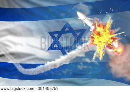 Strategic Rocket Destroyed In Air, Israel Ballistic Missile Protection Concept - Missile Defense Mil