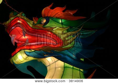 TORONTO ON- OCT 11: Blue Dragon Head at Chinese Lantern Festival October 11 2008 in Toronto ON. poster