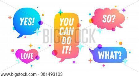 Speech Bubble. Set Of Chat Message, Cloud Talk, Speech Bubble. Color Speech Bubble, Cloud Talk Isola