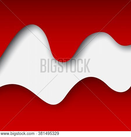 Abstract New Waving Flag Of Belarus. Protest Actions. Creative Background For Design Of Poster Belar