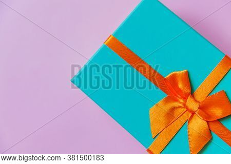 Christmas New Year Birthday Valentine Celebration Present Romantic Concept. Simply Minimal Design Bl