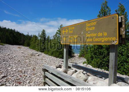 Park Sign In Bruce Peninsula
