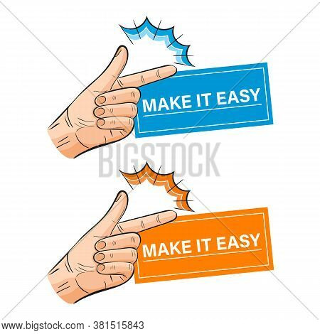 Hand Snapping Fingers Icon Set. Make It Easy Business Concept. Snap Clicking Gesture. Attracting Att
