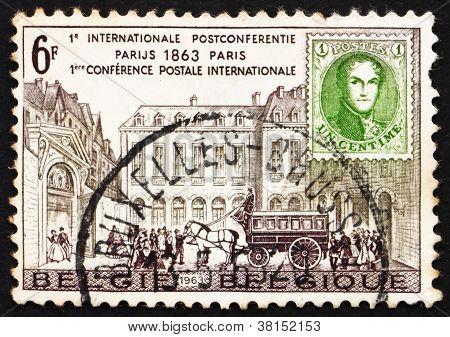 Postage stamp Belgium 1963 Hotel des Postes, Paris