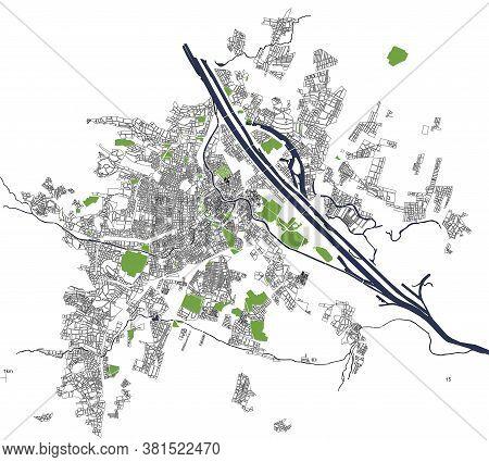 Vector City Map Of Vienna, Austria, Europe
