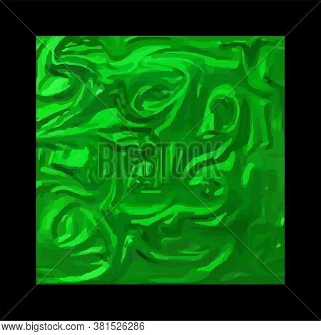 Abstract Paper Green, Shiny With Uneven Surface - Black Background - Vector. Design Element