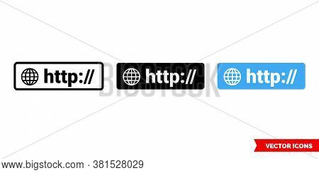 Http Symbol Icon Of 3 Types Color, Black And White, Outline. Isolated Vector Sign Symbol.