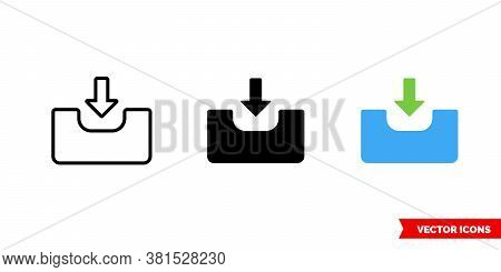 Input Icon Of 3 Types Color, Black And White, Outline. Isolated Vector Sign Symbol.