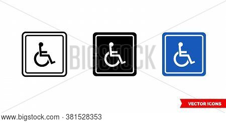 Invalid Symbol Icon Of 3 Types Color, Black And White, Outline. Isolated Vector Sign Symbol.