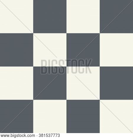 Minimal Geometric Squares Checkered Background. Abstract Beige Dark Grey Color Straight Squares Surf