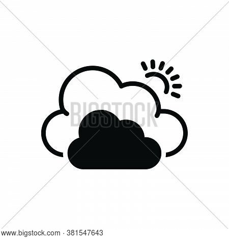 Black Solid Icon For Cloud Fog Smog  Vapor Steam Fogginess Weather Networking Climate Website