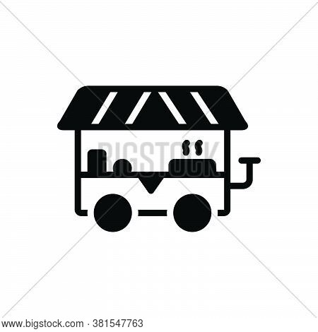 Black Solid Icon For Street-food Street Food Food-truck Pantry Barbecue Hawker Delicious Food Fast-f