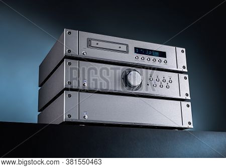 Analog Music Stereo Audio Amplifier And Tuner.