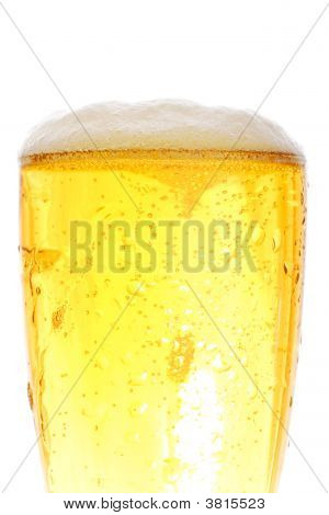 Medium Shot Of Beer Pint