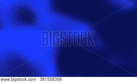 Dot Blue Wave Light Screen Gradient Texture Background. Abstract  Technology Big Data Digital Backgr