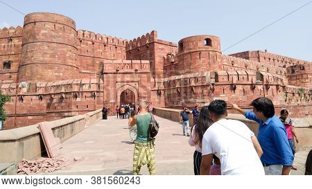 The Main Residence Of Historical Agra Fort,  Built By Emperors Of The Mughal Dynasty And A Unesco Wo