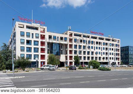 Belgrade, Serbia - July 21, 2020: Telekom Srbija Mts - Telecom Serbia. Serbian Telecommunications Co