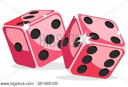 Game Cubes On A White Background. Dice