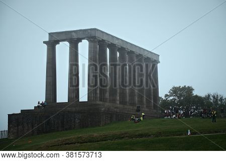 August 18, 2020. A Production With Scottish Musical Orchestra And Edinburghs Acropolis Is Filmed On