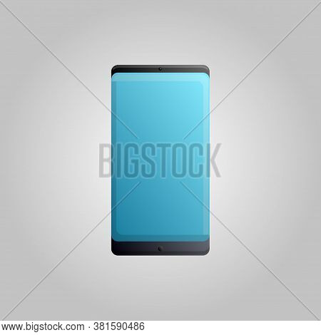 Digital Modern Touchscreen Mobile Phone Smartphone On A White Background. Vector Illustration.