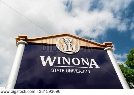 Entrance To Winona State University In Winona, Minnesota