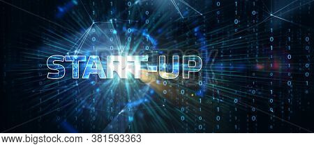 Business, Technology, Internet And Network Concept.  3d Illustration  Start-up Funding Crowdfunding