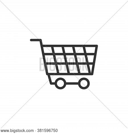 Wheel Trolly Icon With Line Style Vector Illustration