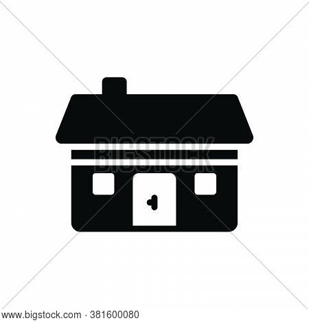 Black Solid Icon For Residential Dwelling Abode Habitation Building Architecture House Estate Apartm