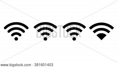 Wi-fi Wireless Icon With Visualization Signal Quality. Internet Connection Wi-fi Signal. Vector Illu