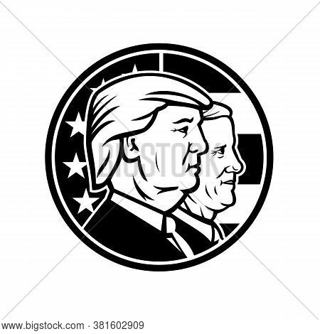 Aug 15, 2020, Auckland, New Zealand: Illustration Of American President And Vice President For Us El