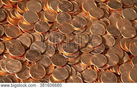 Collection of the 1 cent coins.The Lincoln cent (sometimes called the Lincoln penny) is a one-cent coin that has been struck by the United States Mint since 1909