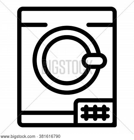 Dryer Machine Icon. Outline Dryer Machine Vector Icon For Web Design Isolated On White Background