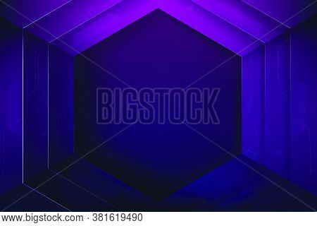 Abstract Background Hexagon Shape With Overlaps And Shadow Element, For Futuristic Modern Technology