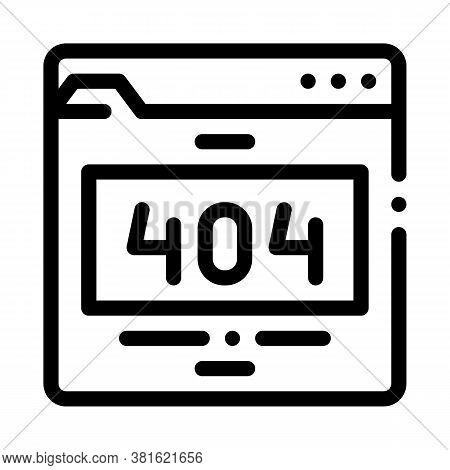 Error Web Site Page Icon Vector. Error Web Site Page Sign. Isolated Contour Symbol Illustration
