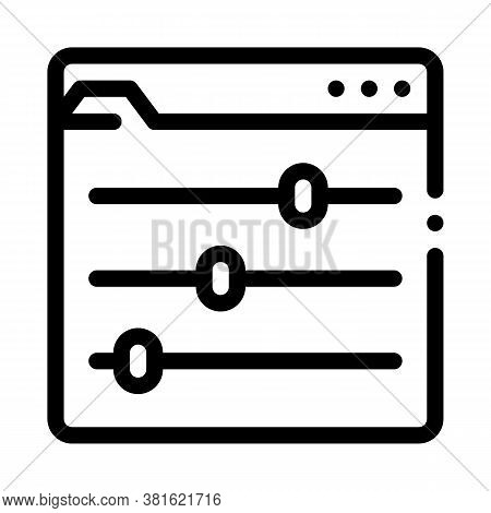 Color Rgb Setting Icon Vector. Color Rgb Setting Sign. Isolated Contour Symbol Illustration