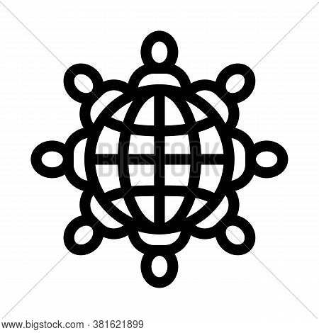 World Racial Tolerance Icon Vector. World Racial Tolerance Sign. Isolated Contour Symbol Illustratio