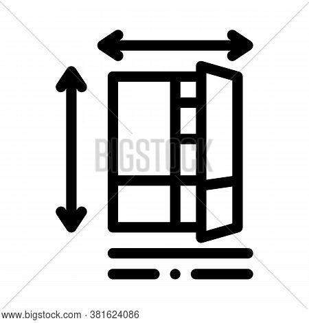 Cabinet Size Icon Vector. Cabinet Size Sign. Isolated Contour Symbol Illustration
