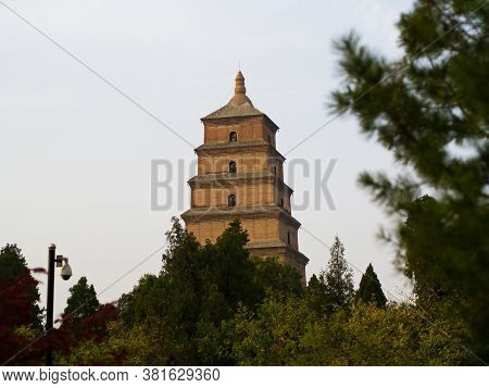 Giant Wild Goose Pagoda Or Big Wild Goose Pagoda Is A Buddhist Pagoda. It Was Built In 652 During Th
