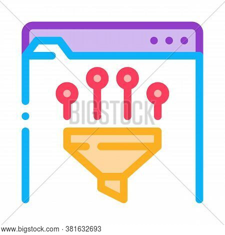 Filtering Data Icon Vector. Filtering Data Sign. Color Symbol Illustration