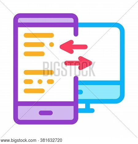 Adaptive Site For Computer Screen And Phone Icon Vector. Adaptive Site For Computer Screen And Phone