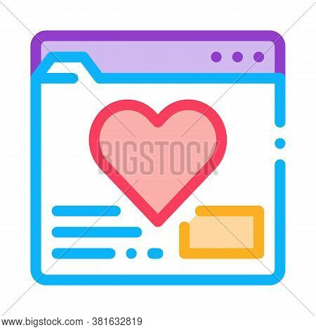 Creature Dating Site Icon Vector. Creature Dating Site Sign. Color Symbol Illustration