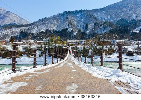 Bridge to Ogimachi Village/Shirakawago